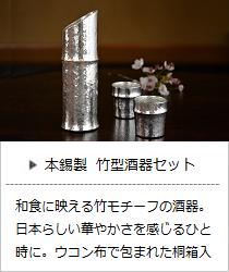 竹型酒器セット <能作> | 暮らしのほとり舎